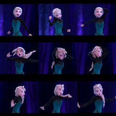 Elsa's magical hair transformation <3