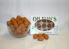 Oh Ryan's Irish Potato Candy, they're Delicious. ~Thanx to my great friend & nurse from Philly Carol I got introduced to these, so delicious! Potato Recipes, Dog Food Recipes, Yummy Recipes, Irish Candy, Potato Candy, Irish Potatoes, Good Food, Yummy Food, Coconut Cream