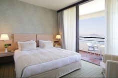 your vacation and enjoy the magnificent view of Porto Carras Sithonia Hotel ! Spa Center, Walter Gropius, Hotel Spa, Vacation, Holidays, Architecture, Bed, Summer, Furniture