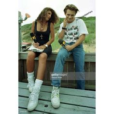 Christian Slater, Daisy Fuentes, Celebrity Photos, Mtv, Mom Jeans, Hipster, Celebrities, Fitness, Pants