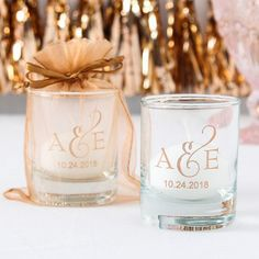 Personalized Shot Gl Votive Holder