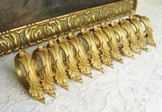 Rare set of 12 Antique French bronze curtain rings in rococo style 19th century chateau window treatment French Curtains, Rose Garland, French History, Rococo Style, One Ring, French Antiques, Window Treatments, Metal Working, 19th Century