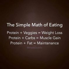 The simple math of eating