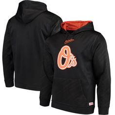Baltimore Orioles Stitches Fleece Pullover Hoodie - Black