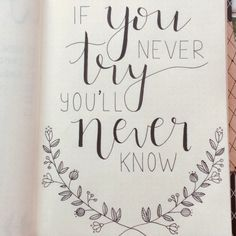 70 Inspirational Calligraphy Quotes for Your Bullet Journal - The Thrifty Kiwi Need a boost? Here are 70 inspirational calligraphy quotes to include in your bullet journal! Calligraphy Quotes Doodles, Doodle Quotes, Hand Lettering Quotes, Calligraphy Drawing, Watercolor Lettering, Quotes Quotes, Calligraphy Video, Diary Quotes, Calligraphy Letters