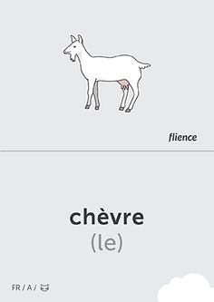 Chèvre #CardFly #flience #animals #french #education #flashcard #language