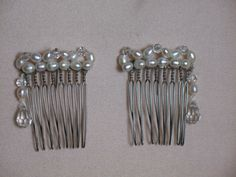 Hair combs for any occasion.  Hand made from fresh water pearls and Swarovski crystals. www.alterationsavenue.com