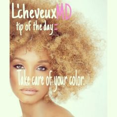 www.instagram.com/lescheveuxmd  Use a leave in conditioner, to prevent your hair from fading, and to get moisture and balance in your color treated hair. When you dye your hair with permanent hair dye, it starts to take away from the nutrients in your hair. Don't kill your hair ladies! ~ L'cheveuxMD