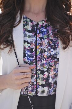 """The Cube"" Fab Found Neon Floral Blouse"