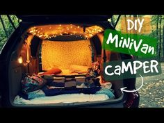 """Minivan Camper Conversion for """"Glamping"""" on a Budget 