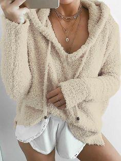 Fashion Solid Casual Hoodies