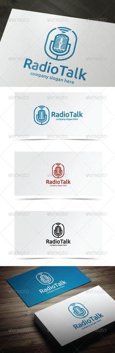 Radio Talk — Vector EPS #talk #online • Available here → https://graphicriver.net/item/radio-talk/8148227?ref=pxcr