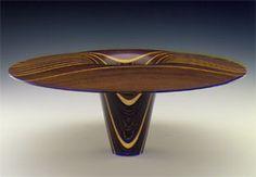 Virginia Dotson - Untitled (#90041) 1990  Baltic birch plywood, wenge, walnut, laminated, lathe-turned.