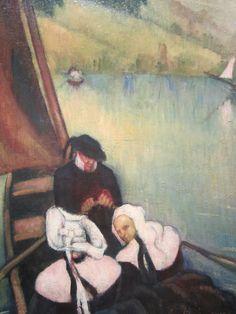 Emile Bernard 'Breton Women in a Ferry Boat'