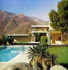 Richard Neutra's 1946 Kaufmann House in Palm Springs, CA. Frank Lloyd Wright built the Fallingwater house for the Kaufmann a decade earlier.