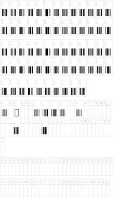 Barcode font (without letters below). Could be fun for a project.