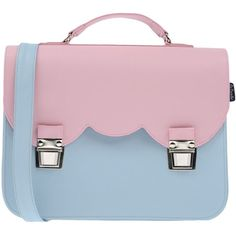 La Cartella Handbag found on Polyvore featuring bags, handbags, pink, pvc bag, satchel purse, buckle purses, pink satchel handbags and satchel bag