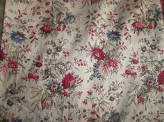 Early 18th century French glazed cotton fabric , really beautiful and still in amazing condition. Lovely block printed flowers.