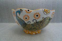 Dutch Wax Coastline Imports handpainted bowl