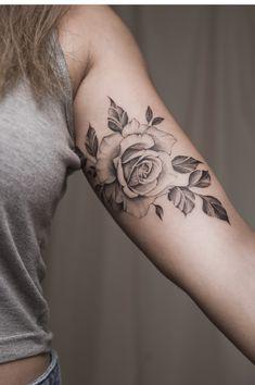 Flower rose tattoo