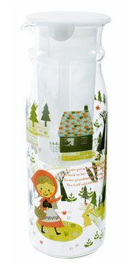 Shinzi Katoh Glass Tea Canister - Red Hood