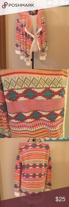 Rue 21 cardi Rue 21 tribal print sweater Sweaters Cardigans