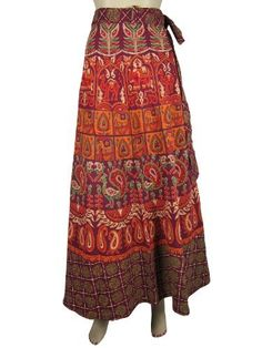 Long Wrap Skirts Hippie Indie Gypsy Purple Orange Peacock Camel Paisley Print Wrap Aruond Skirt for Women Mogul Interior, http://www.amazon.com/dp/B009SJ6878/ref=cm_sw_r_pi_dp_DZbHqb0Z7AWSP