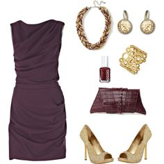 This is just a gorgeous color combo - nice play of tones, and I think my skin would look great against that burgundy.