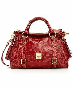 Dooney & Bourke Handbag, Small Crocofino Satchel