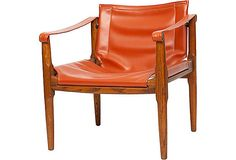 Midcentury Campaign-Style Chair