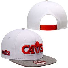 8441556ba92 Men s Cleveland Cavaliers New Era White Logo Refresh Original Fit Snapback  Adjustable Hat