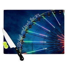 """KESS InHouse Fly High And Touch The Sky by Beth Engel Cutting Board Size: 0.5"""" H x 15.75"""" W x 11.5"""" D"""