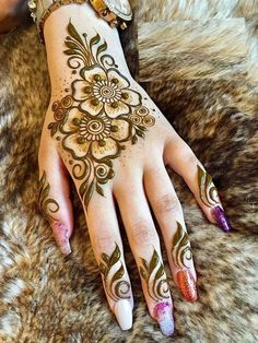 Enhance your skin with a feminine henna tattoo symbol - Henna Designs - Henna Designs Hand Henna Hand Designs, Mehndi Designs Finger, Henna Tattoo Designs Simple, Simple Arabic Mehndi Designs, Modern Mehndi Designs, Mehndi Designs For Girls, Mehndi Design Photos, Mehndi Designs For Fingers, Latest Mehndi Designs