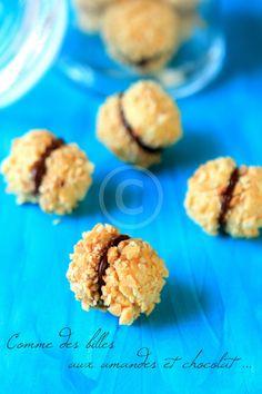 Comme des billes sablées aux amandes et chocolat - Rdv Aux Mignardises chez Mouni