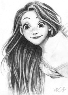 Tangled - this looks kinda like what I imagine Rapunzel's daughter would look like!