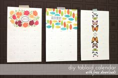 DIY tabloid calendars with free download--thanks to Amber at Damask Love!