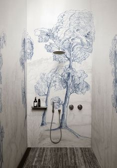 Inner Forest Wallpaper designed by Gunilla Zamboni for the WET SYSTEM™ Collection © Wall&decò.