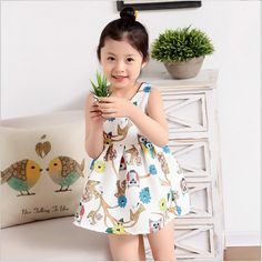 New GIRLS Dress 2017 Summer Children Cotton Print Princess Dress Fashion Print Floral Sundress Kids Jacquard Outfits Party Dress
