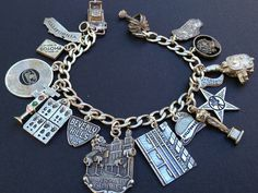 Vintage Charm Bracelet Collection - Hollywood & Universal Studios Silver Charm Bracelet