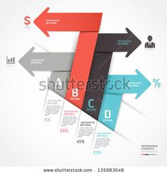 Modern Business Arrow Origami Style Step Up Options. Vector Illustration. Can Be Used For Workflow Layout, Diagram, Number Options, Web Design, Infographics. - 135983048 : Shutterstock