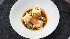 Pork and Prawn Wontons with Spicy Szechuan Oil