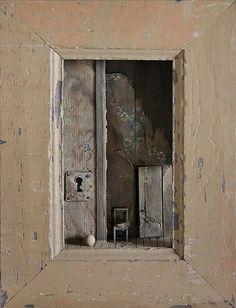 Peter Gabrielse (Interiors in Miniature) Found Object Art, Found Art, Art Texture, Wal Art, Shadow Box Art, Find Objects, Assemblage Art, Installation Art, Altered Art