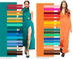 Teal and Orange Color Wheel Fashion, Colour Combinations Fashion, Color Combinations, Colour Schemes, Vestidos Color Naranja, Colours That Go Together, Structured Fashion, Vintage Street Fashion, Core Wardrobe