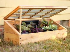 """"""""""" How to Build a Cold Frame """""""" Use an old window frame to create a miniature greenhouse that will protect plants from frost. Get the step-by-step instructions at HGTV. Miniature Greenhouse, Small Greenhouse, Greenhouse Plans, Indoor Greenhouse, Portable Greenhouse, Pallet Greenhouse, Homemade Greenhouse, Greenhouse Wedding, Garden Box Plans"""
