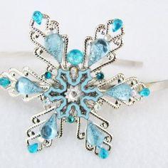 Elsa Headband: Flower Girl Snow Queen Elsa Tiara Frozen Wedding Bridesmaids Crystals 1
