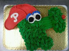 Philly Phanatic Cupcake Cake