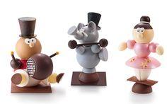 Les artistes du cirques de Vincent Guerlais : sujets en chocolat garnis de fritures et œufs praliné. 20 € pièce