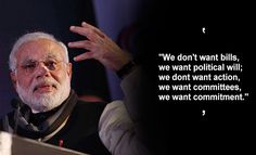 we want commitment, narendra modi quote, best quote, life quote, satisfection quote