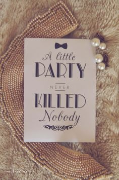 The Perfectly Packable Party- Gatsby Theme