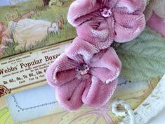 Fabric flowers - repurpose from stained soft pants
